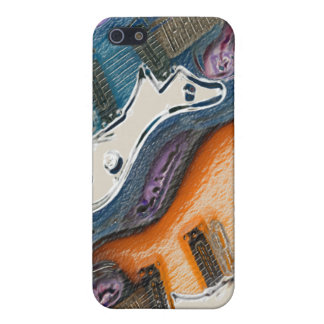Abstract Electric Guitars iPhone 5 Cover