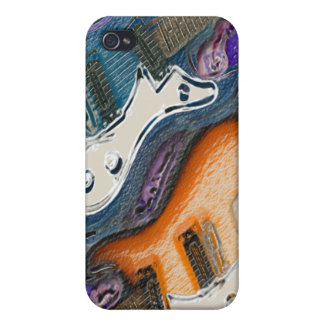 Abstract Electric Guitars iPhone 4/4S Case