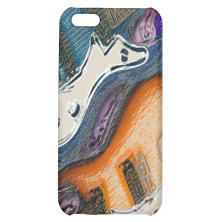 Abstract Electric Guitars iPhone 5C Cover
