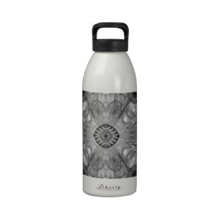 Abstract Electric Jellyfish Cool Fractal b&w Water Bottle