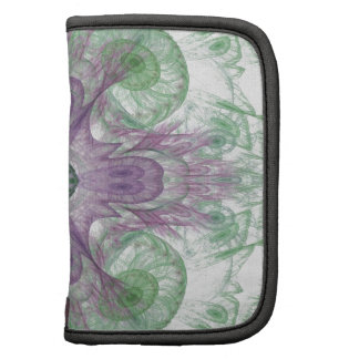 Abstract Electric Jellyfish Cool Fractal green Organizer