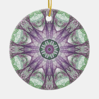 Abstract Electric Jellyfish Cool Fractal green r Ornaments