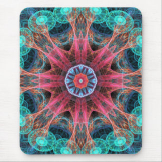 Abstract Electric Jellyfish Cool Fractal Mouse Pads