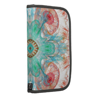 Abstract Electric Jellyfish Cool Fractal red and b Organizers