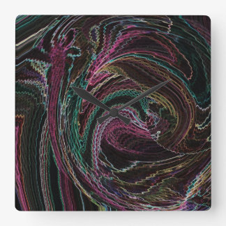 Abstract Electric Lights Rooster Wall Clock