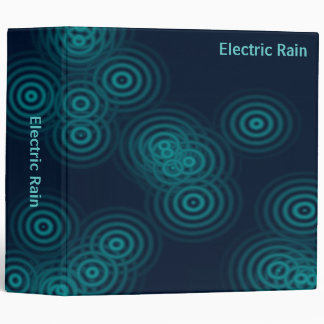 Abstract - Electric Rain (2.0in) 3 Ring Binder