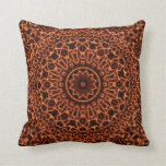 Abstract Electric Waves Mandala Design Throw Pillows
