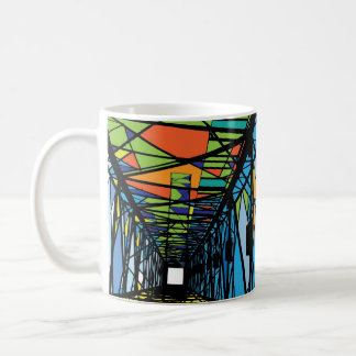 Abstract Electrical tower illustration Coffee Mug