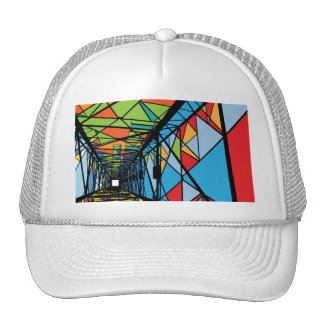 Abstract Electrical tower illustration Mesh Hat