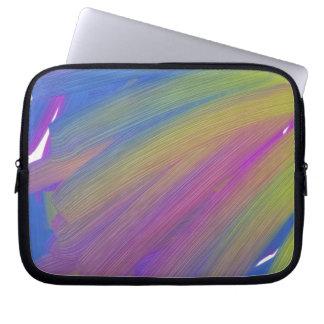 Abstract electronics laptop sleeve