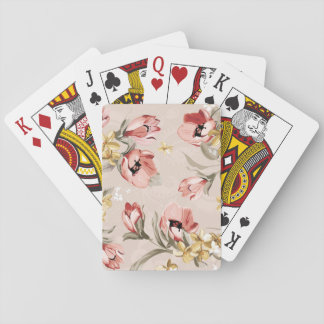 Abstract Elegance floral pattern 3 Playing Cards