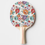 Abstract Elegance floral pattern 5 Ping-Pong Paddle