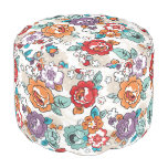 Abstract Elegance floral pattern 5 Round Pouf