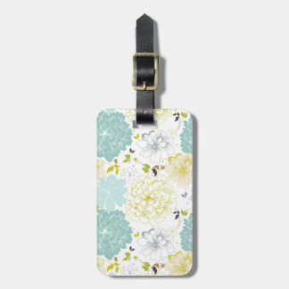 Abstract Elegance floral pattern Luggage Tag