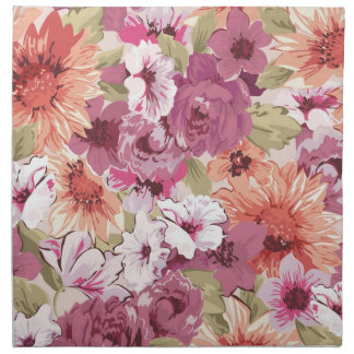 Abstract Elegant Floral design Cloth Napkin