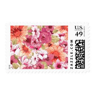 Abstract Elegant Floral design Postage