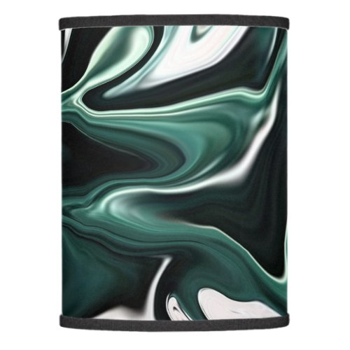 Abstract elegant fluid liquid marble flow texture lamp shade