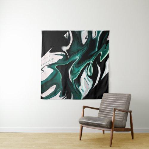 Abstract elegant fluid liquid marble flow texture tapestry