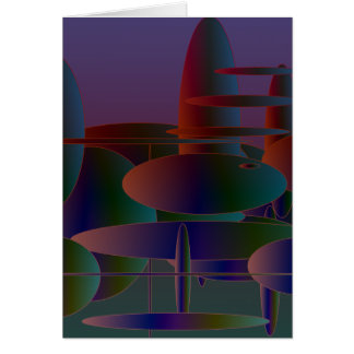 Abstract Ellipses #3 Card