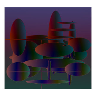 Abstract Ellipses Art Poster