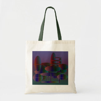 Abstract ellipses modern digital art bag