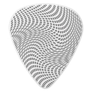 Abstract Emboss White Delrin Guitar Pick