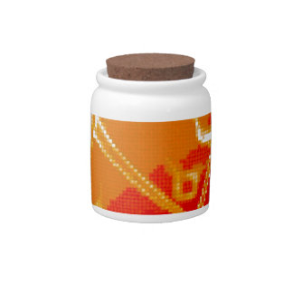 abstract embroidery candy jars