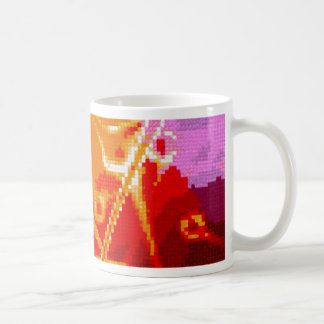 abstract embroidery classic white coffee mug