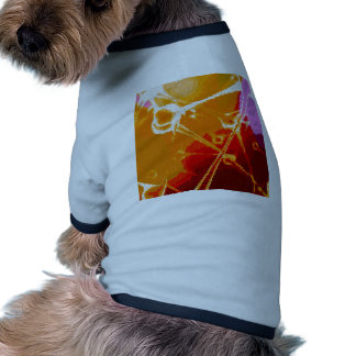 abstract embroidery doggie t shirt