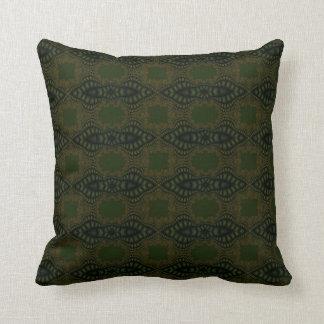 abstract emerald green pillow