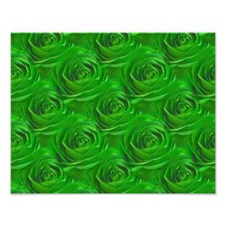 Abstract Emerald Green Rose Wallpaper Pattern Art Photo