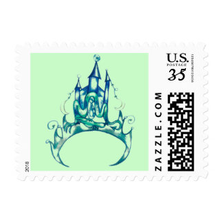 Abstract Emerald Tiara Stamps