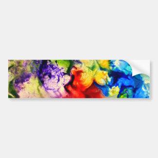 Abstract, Encaustic Bumper Sticker