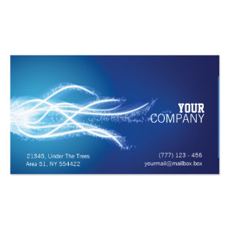 Abstract energy burst business card