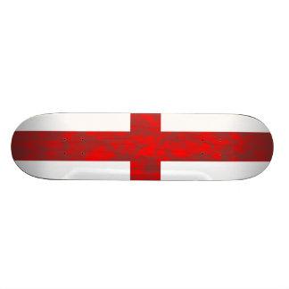 Abstract England Flag Skateboard