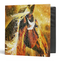 Abstract equestrian western country horse binder