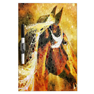 Abstract equestrian western country horse Dry-Erase board