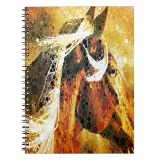 Abstract equestrian western country horse notebook