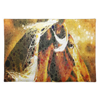 Abstract equestrian western country horse placemat