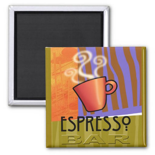 "Abstract: ""Espresso Bar"" by Cheryl Daniels Fridge Magnets"