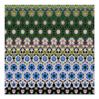 Abstract ethnic floral pattern No13 Poster