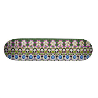 Abstract ethnic floral pattern No13 Skateboard Deck