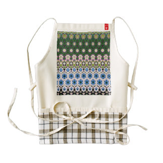 Abstract ethnic floral pattern No13 Zazzle HEART Apron