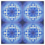 abstract ethnic   geometric  blue pattern. fabric