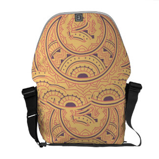 Abstract ethnic courier bag