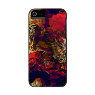 Abstract Evening Red, Cream and Midnight Blue Art Incipio Watson™ iPhone 5 Wallet Case