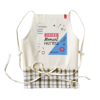Abstract Every Moment Matters Quote   HEART Apron