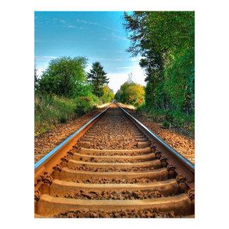 Abstract Everyday Along The Tracks Customized Letterhead