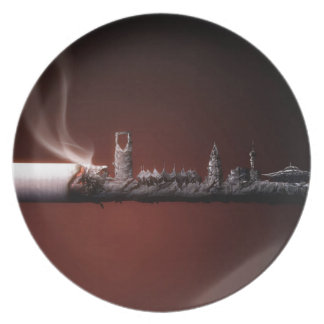 Abstract Everyday Building The Ashes Plates