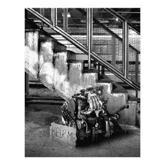 Abstract Everyday Car Engine Customized Letterhead